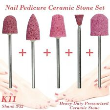 Nail Pedicure Condorum Stone Ceramic Bit Drill Bur Cuticle Remove 3/32 Set K11