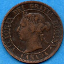 Canada 1899 1 Cent One Large Cent Coin - Fine