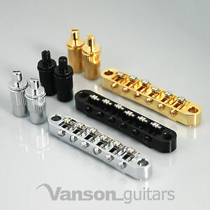 NEW Vanson Roller Saddle Bridge for Epiphone Les Paul, SG, ES, Dot, Bigsby T-O-M