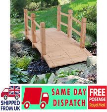 More details for summer garden bridge arch small wooden pond courtyard outdoor landscape ornament