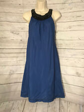 MSSP Max Studios Specialty Products Jewled Halter Neck Blue Sleeveless Dress S