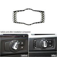 For BMW E92 E90 E93 3Series Carbon Fiber Headlight Switch Frame Cover Trim