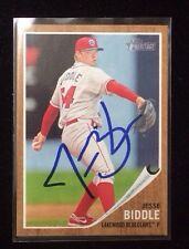 JESSE BIDDLE 2011 TOPPS HERITAGE Autographed Signed AUTO Baseball Card 65 PHILLI