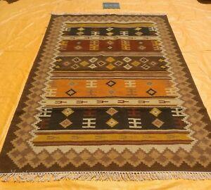 Hand Woven Wool Rug Turkish Kilim Dhurrie Afghan Oriental Area Rug 5x8