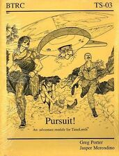 PURSUIT! AN ADVENTURE MODULE FOR TIMELORDS SEALED BTRC TS-03 Time Lords Travel