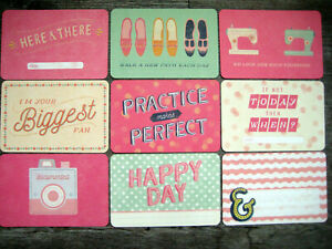 "'WONDERFUL' PROJECT LIFE CARDS BY BECKY HIGGINS -6"" X 4"""