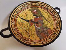 Athena Greek Goddess Rare Hellenic Ancient Art Pottery Tray Kylix