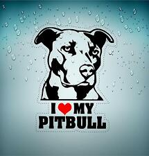 Sticker car moto biker bomb jdm decal bumper laptop i love my pitbull dog r2