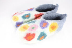 Felted Wool Handcrafted Slippers