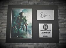 More details for tom hiddleston - loki - signed autograph display - avengers