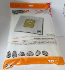 Pack of 10 Vacuum Cleaner Bags for AEG, Philips S-Bag / Electrolux E200B