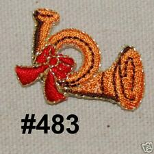 1PC~MUSIC TOY HORN~IRON ON EMBROIDERED APPLIQUE PATCH
