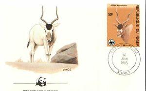 (72429N) Niger WWF FDC Antelope 1985