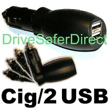 IC3005-1C Car Charger Adaptor: Cig-Lighter to Twin USB