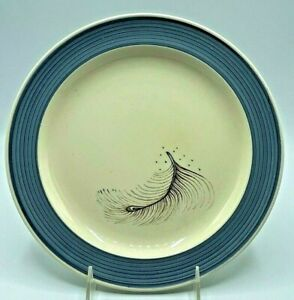 Vintage Susie Cooper England Blue Feather 2348 Dinner Plate