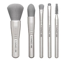 MAC Holiday Snow Ball Basic Brush Set Silver Grey - Authentic Brand New
