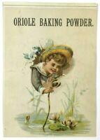 Oriole Baking Powder Price List Queen City Chemical Co Buffalo NY Trade Card