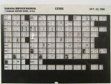 Yamaha CE50 1986 CE50S Service Manual Microfiche Y102