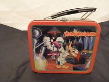 "Vintage 1997 Woody Woodpecker 5.5"" Mini Tin Metal Lunch Box w/Black Handle"