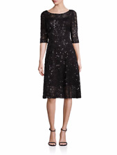Kay Unger Solid Roundneck Dress in Midnight Size 12 NWT