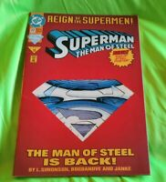 Superman: The Man of Steel #22 [Die-Cut Cover] (Jun 1993, DC) Reign Supermen GD