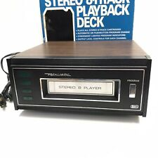 Realistic Stereo 8 Track Player Model TR-168, Tested and Works