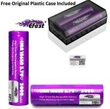 2 x Genuine Purple Efest 3000mAh IMR 3.7V 18650 Battery Flat Top 35A Vape Mod