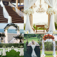 DIY 5M White Top Table Swags Sheer Organza Fabric Wedding Party Decorations