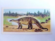 Brooke Bond Prehistoric Animals tea card 10. Plateosaurus. Dinosaurs.