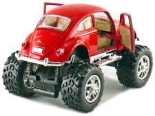 Kinsmart Off Road Monster Wheel 1967 VW Volkswagen Beetle 1:32 Discast Red