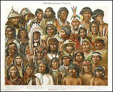 1894_ANTICA CROMOLITO _POPOLAZIONI AMERICANE.Rare..