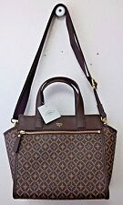 Fossil Tessa Satchel Multi Brown SHB1471249 NWT