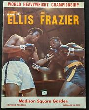 1970 Joe Frazier vs.Jimmy Ellis On-Site Fight Boxing Program EX+ Cond