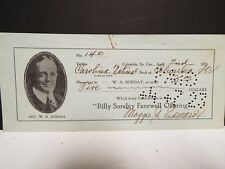 Signed Billy Sunday Endorsed Check - 1923