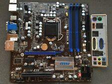 MSI H55M-E33 mATX Motherboard MS-7636 VER 1.0 i3/i5/i7 includes io shield.