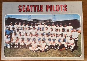 1970 TOPPS Seattle Pilots Team Card #713 Sharp Baseball Card HtF High Number '70