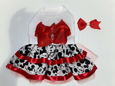 Handmade Dog Dress Mickey Mouse Themed Dog Harness Xsmall w/ Free Hair Bow