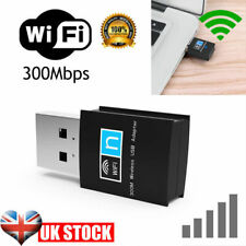 USB WiFi Dongle Adapter 802.11 B/G/N Wireless Network for Laptop PC tv 300mbps