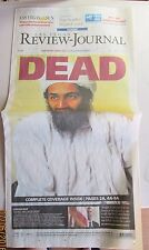 OSAMA BIN LADEN DEAD LAS VEGAS REVIEW JOURNAL 5/2/2011 NEW