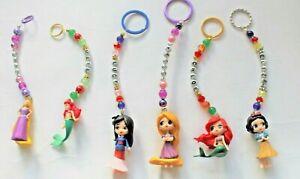 6 Cute Mixed Personalised Disney Princess keyring / bag charm (you chose a name)