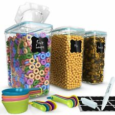 Top Quality Cereal Containers 3 Pc (16.9 Cup/135.2oz) + FREE 14 Measuring Cup...