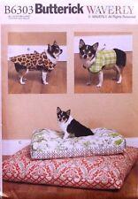 DOG COAT*VEST*DOG BED Butterick Waverly Pattern 6303 NEW Sizes  S-M-L-XL