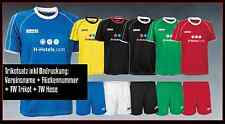 Derbystar Senior 13er Trikotsatz + Hosen,Stegstutzen +Flock+Torwarttrikot+Hose