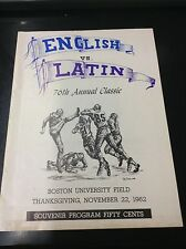 1962 English vs Latin 76th Annual High School Program L9564