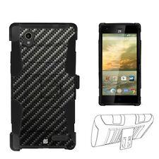 Beyond Cell Shell Case Armor Kombo For ZTE Warp Elite Z9518 Carbon Fiber Black