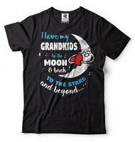 I Love My Grandkids To The Moon And Back Gift For Grandpa or Grandma T-shirt