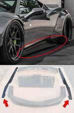 Carbon Fiber Side Skirts made for Ferrari 458 Italia Liberty Walk Style