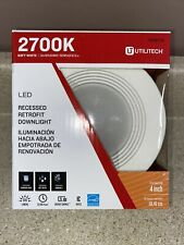 """Utilitech Recessed Retrofit 2700K LED 4"""" Downlight Dimmable Soft White Lot of 2"""