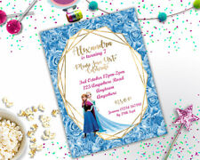 Personalised Disney Frozen Princess Birthday Party Invitation A6 Girls + Env