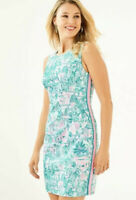 NWT Lilly Pulitzer Mila Stretch Shift Dress In Bright Agate Green Size 8 New
